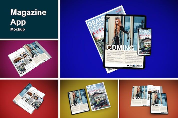 Thumbnail for Magazine App Mockup