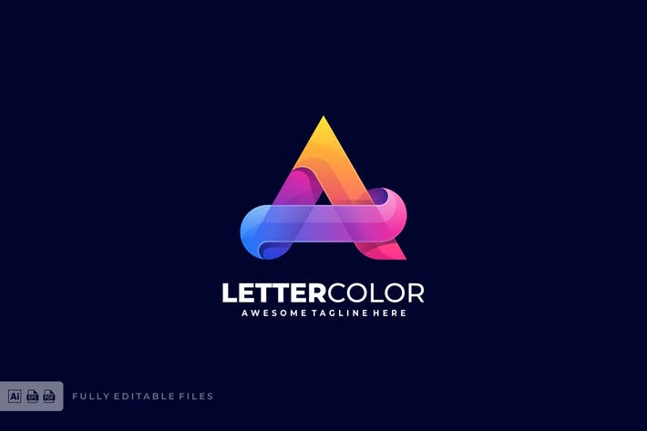 Thumbnail for Letter A Colorful Logo Template
