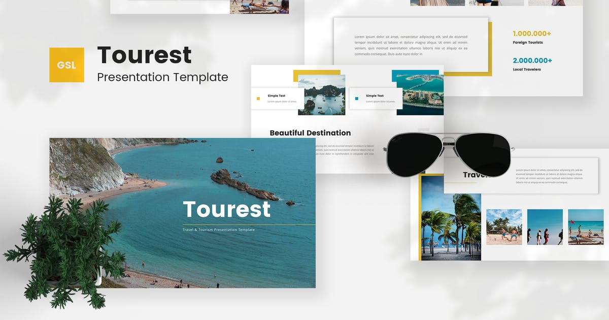 Download Tourest - Travel & Tourism PowerPoint Template by StringLabs