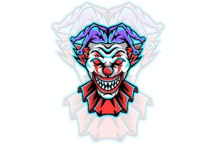 clown mascot illustration