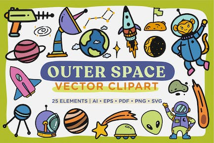 Outer Space Vector Clipart