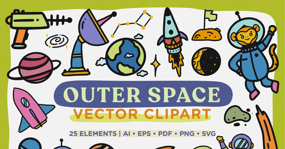 Download Outer Space Vector Clipart by telllu