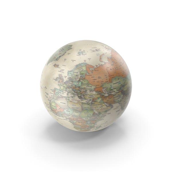 Винтаж земной глобус