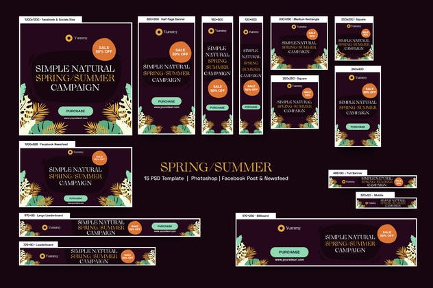 Spring/Summer Sale Banners Ad