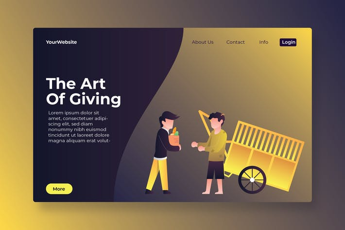 Thumbnail for El arte de dar página de aterrizaje