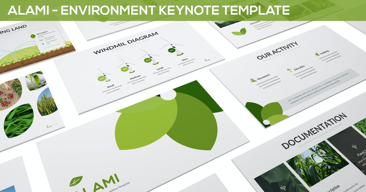 Download Alami - Environment Keynote Template by SlideFactory