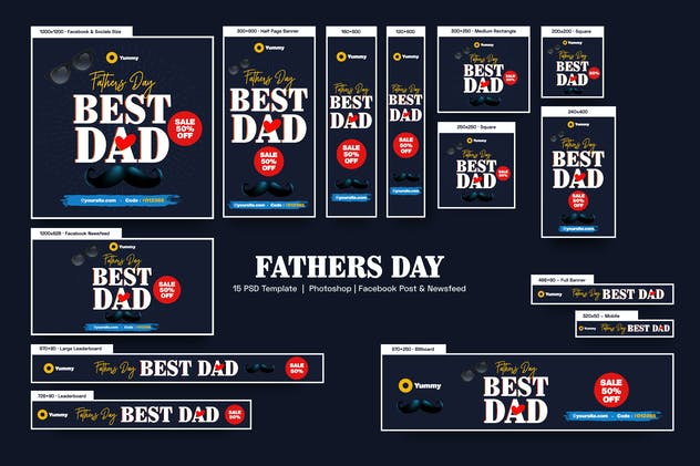 Fathers Day Banners Ad