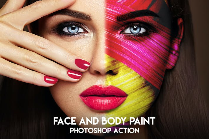 Thumbnail for Face and Body Paint Photoshop Action