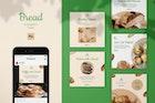 Bread Instagram Feed Post Template