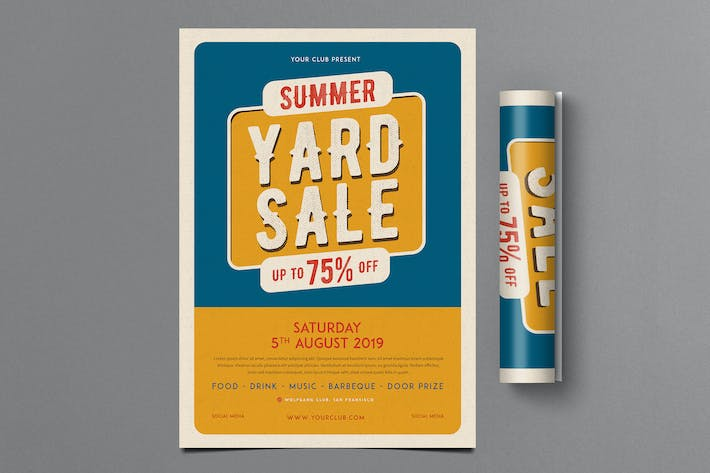 Retro Summer Yard Sale