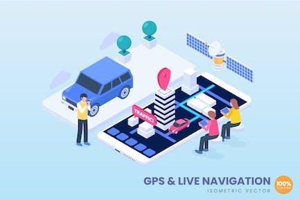 Isometric GPS & Live Navigation Concept