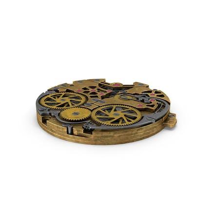 Mecanismo Reloj Latón Viejo