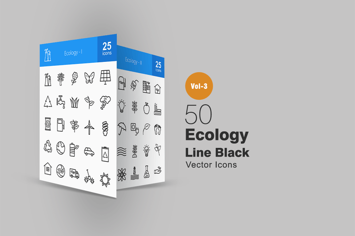 Thumbnail for 50 Ecology Line Icons