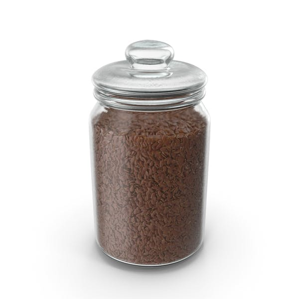 Jar With Flax Seeds