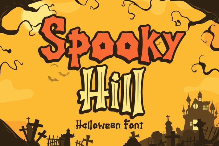 Thumbnail for Spooky Hill - Halloween Font