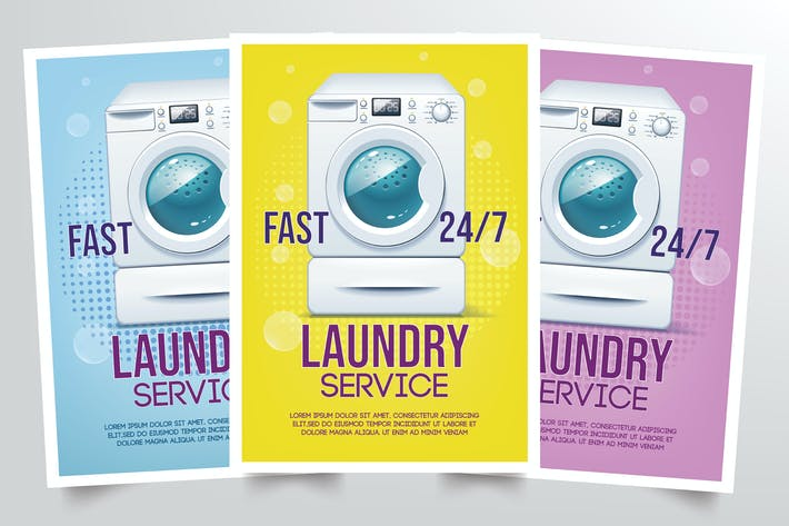 Cover Image For Laundry Flyer Template