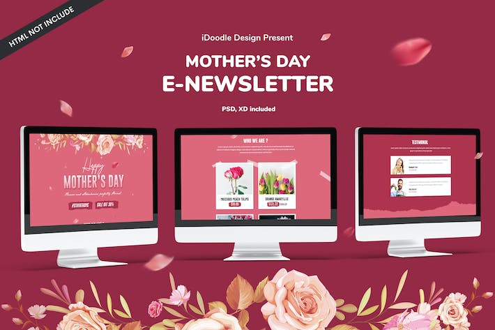Thumbnail for Mother's day E-newsletter Template