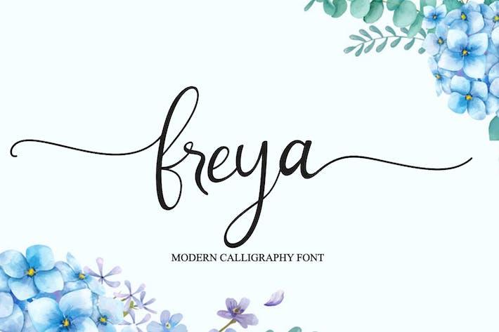 Freya - Fuente de caligrafía moderna