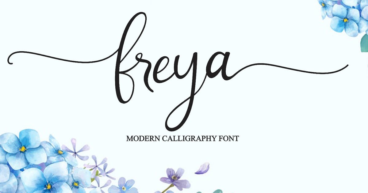 Download Freya - Modern Calligraphy Font by CocoTemplates