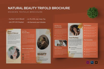 Natural Beauty - Trifold Brochure