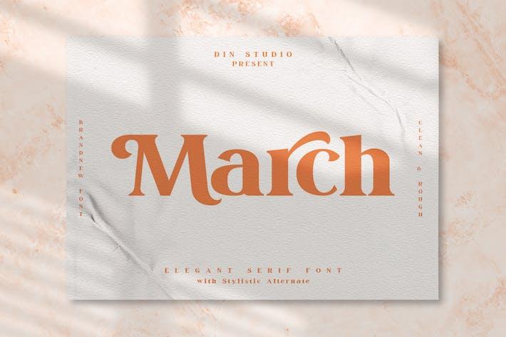 Marzo - Fuente Con serifa moderna