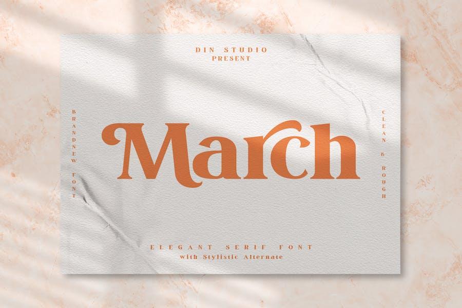 March - Modern Serif Font