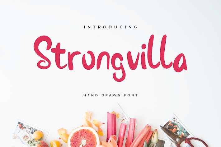 Thumbnail for Stongvilla Brush Handwritten Font