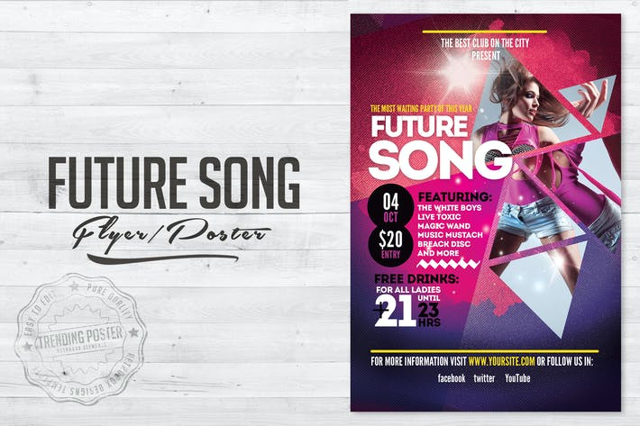 Cover Image For Future Song Flyer Poster