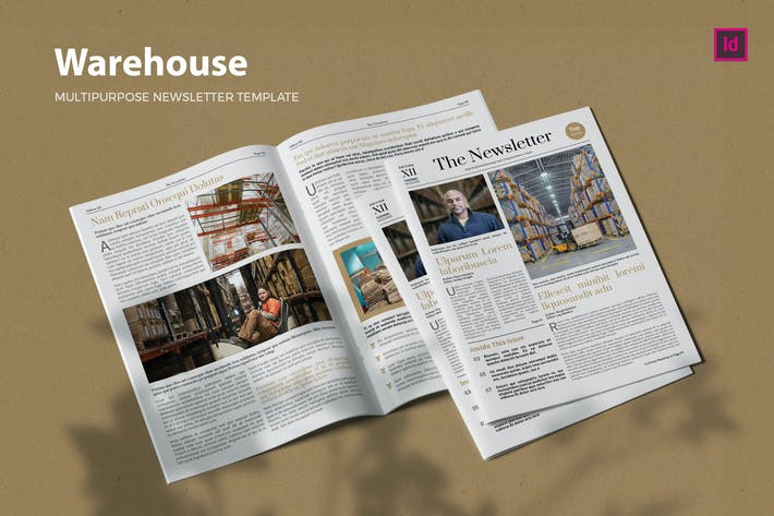 Thumbnail for Warehouse Industry - Newsletter Template