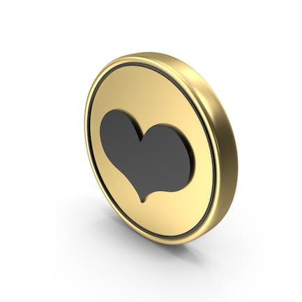 Herz wie Liebe Münze Logo Icon