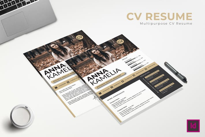 Thumbnail for Business Analyst CV Resume Template