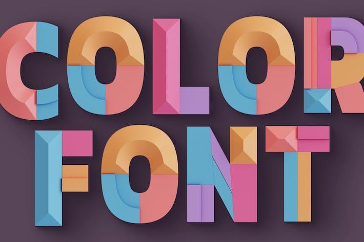 Thumbnail for Geometría decorativa - Fuente SVG Color