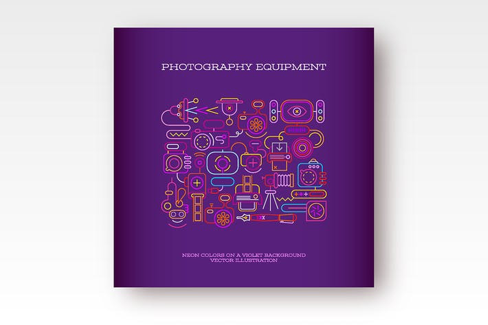 Thumbnail for Photography Equipment vector banner design