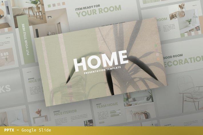 Home Google Slide Presentation Template