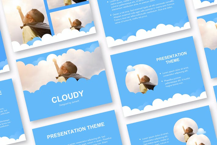 Thumbnail for Cloudy Google Slides Template