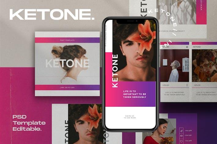 Thumbnail for Ketone Pack 2 - Instagram Post + Stories