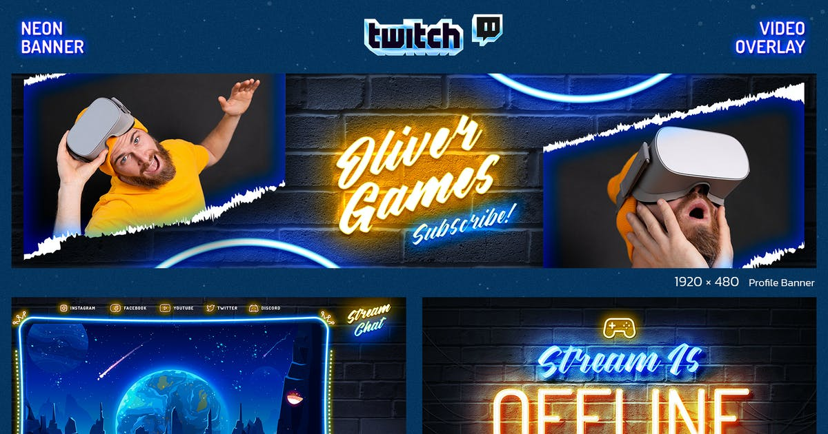 Download Neon Gaming Twitch by Sko4