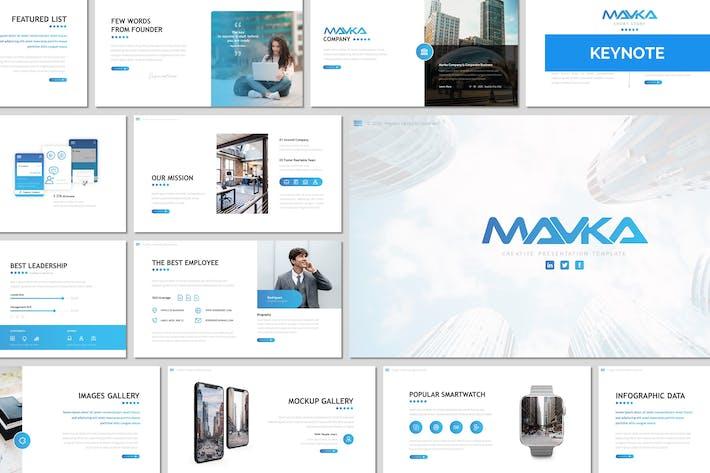 Thumbnail for Mavka - Business Keynote Template