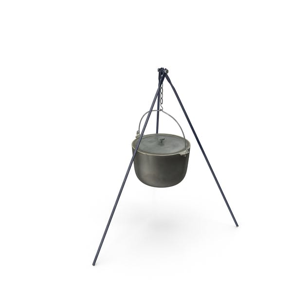 Thumbnail for Campfire with Tripod and Cooking Pot