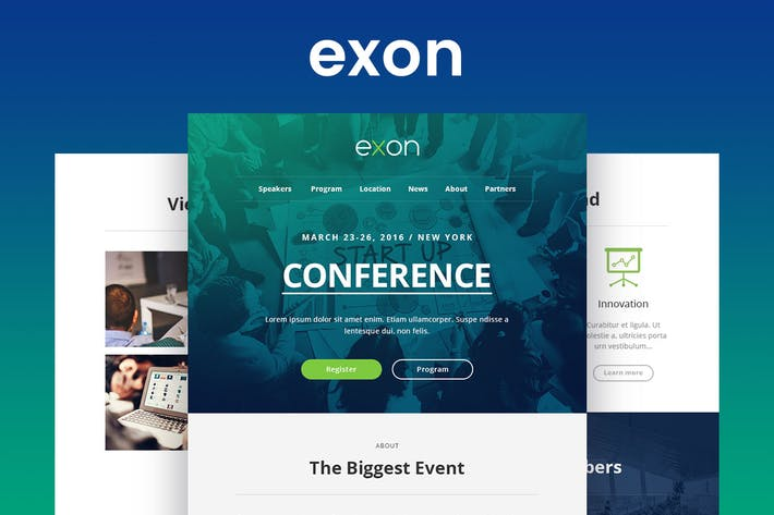 Cover Image For Exon - Responsive Email and Newsletter Template