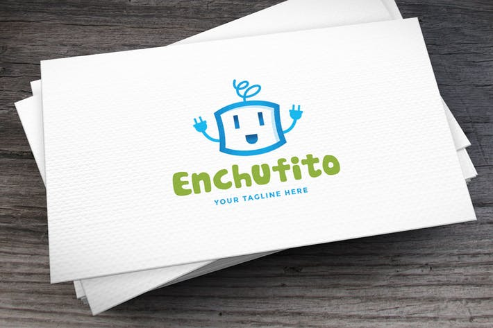 Thumbnail for Enchufito Logo Template