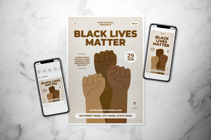 Black Lives Matter Flyer Set