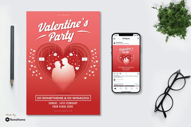 Valentine's Party - Flyer KF