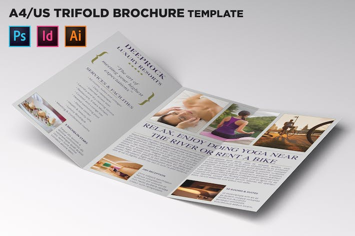 Thumbnail for City Hotel Trifold Brochure Template
