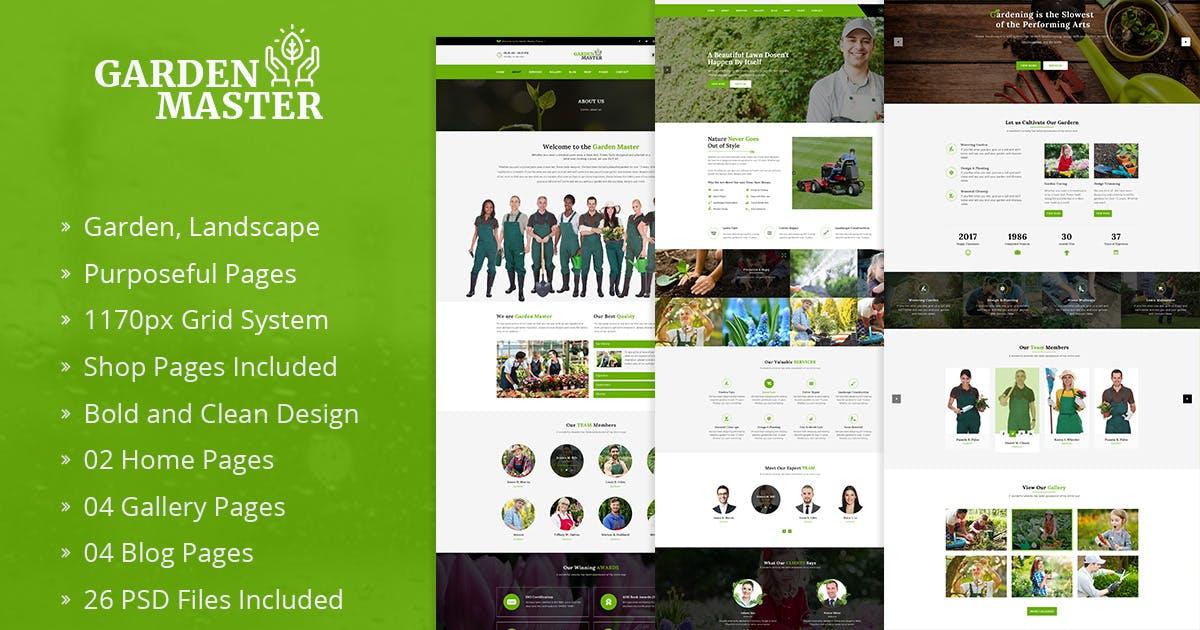 Download Garden Master   Garden & Landscaping PSD Template by DigitalHeaps