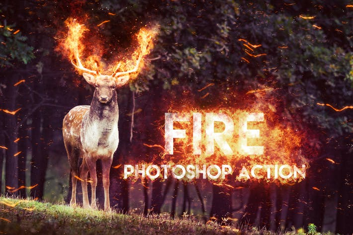 Thumbnail for Fire Photoshop Action