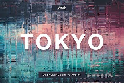 Tokyo| City Glitch Backgrounds | Vol. 04