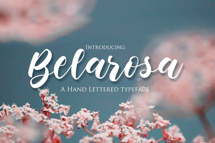 Thumbnail for Belarosa - Hand Lettered Typeface Font