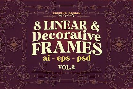 8 Decorative & Linear Frames - Vol.2