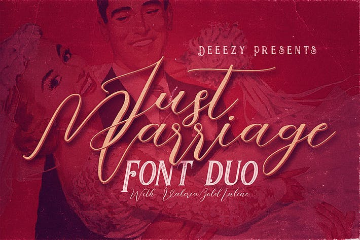 Thumbnail for Just Marriage Font Duo